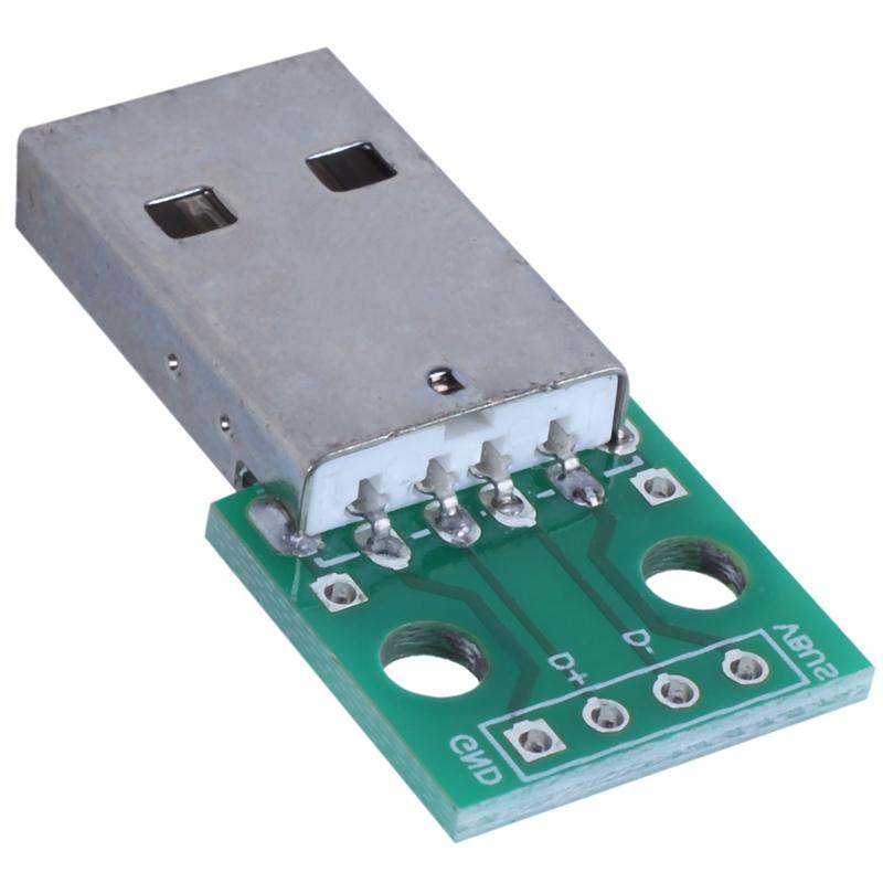 1pcs-green-metal-USB-male-to-DIP2-54mm-DIP-adapter-board-S5T2 thumbnail 6