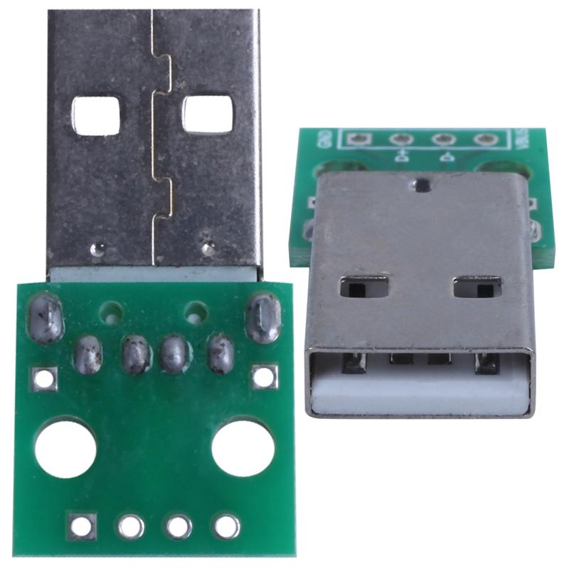 1pcs-green-metal-USB-male-to-DIP2-54mm-DIP-adapter-board-S5T2 thumbnail 7