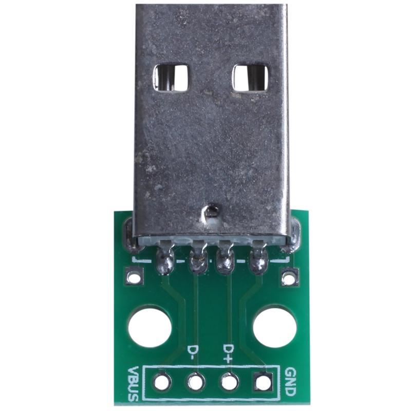 1pcs-green-metal-USB-male-to-DIP2-54mm-DIP-adapter-board-S5T2
