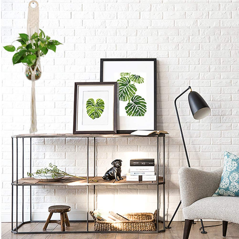 Macrame-Plant-Hanger-Plant-Hangers-Indoor-Wall-Hanging-Planter-Holder-L1P6 thumbnail 6