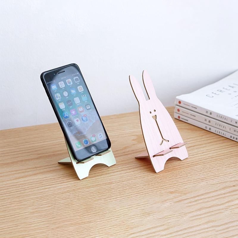 Lazy Diy Mobile Phone Holder Accessory Cute Animal Rabbit