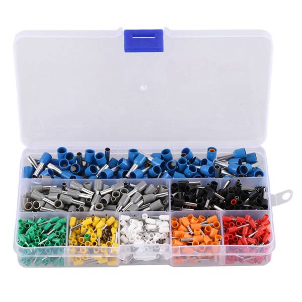 600 Pcs Insulated Cord End Terminal Bootlace Cooper Ferrules Kit Set Wire