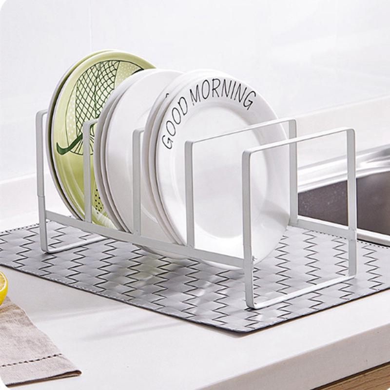 Organizador-De-Cocina-Tapa-De-La-Olla-Estante-Titular-De-La-Cuchara-De-Acer-Z7P9 miniatura 8