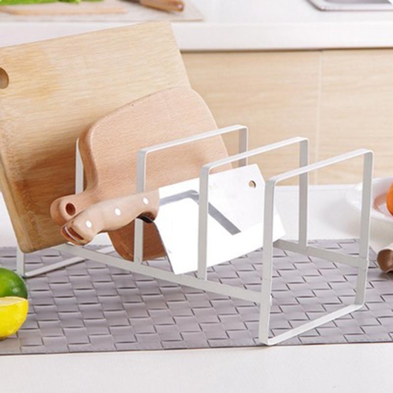 Organizador-De-Cocina-Tapa-De-La-Olla-Estante-Titular-De-La-Cuchara-De-Acer-Z7P9 miniatura 12