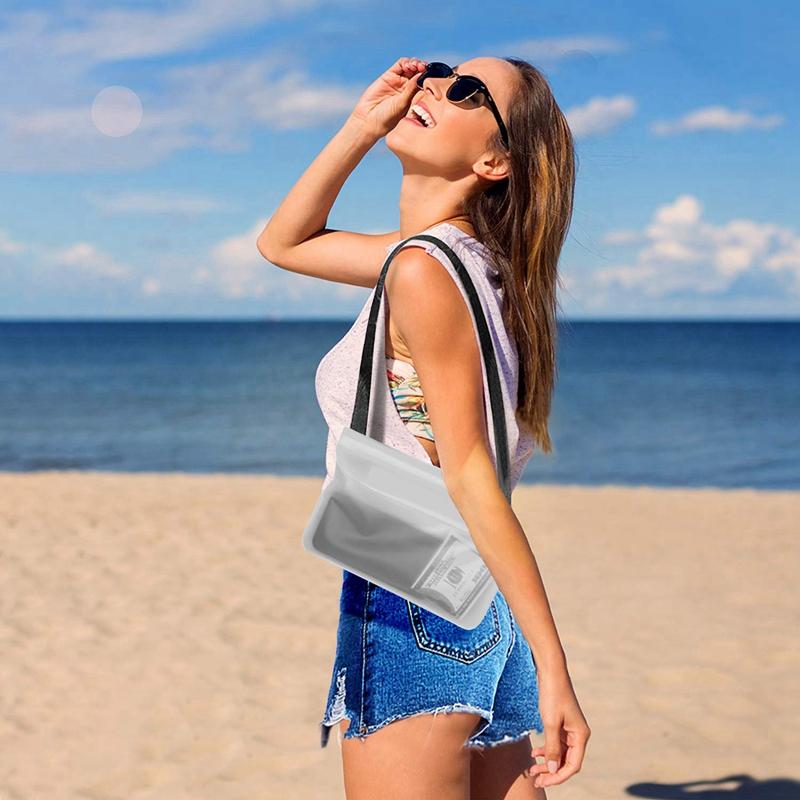 Indexbild 10 - Wasserdichter Beutel Tasche Hülle Mit Verstellbarem Hüftgurt Für Bootfahren N7R6