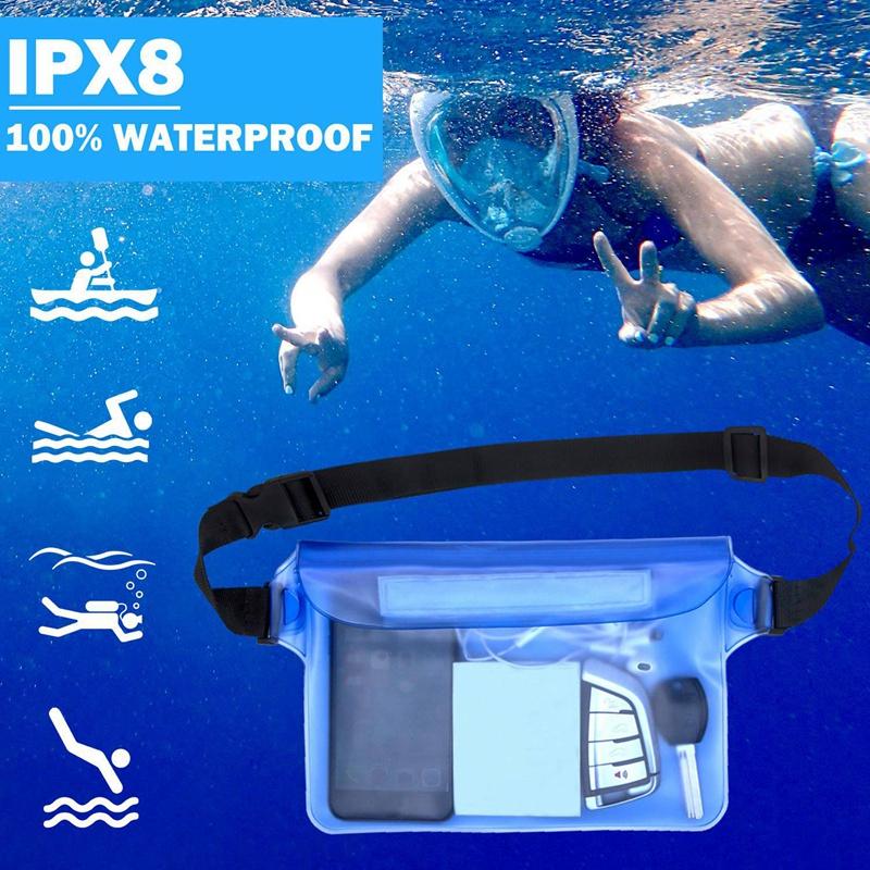 Indexbild 11 - Wasserdichter Beutel Tasche Hülle Mit Verstellbarem Hüftgurt Für Bootfahren N7R6