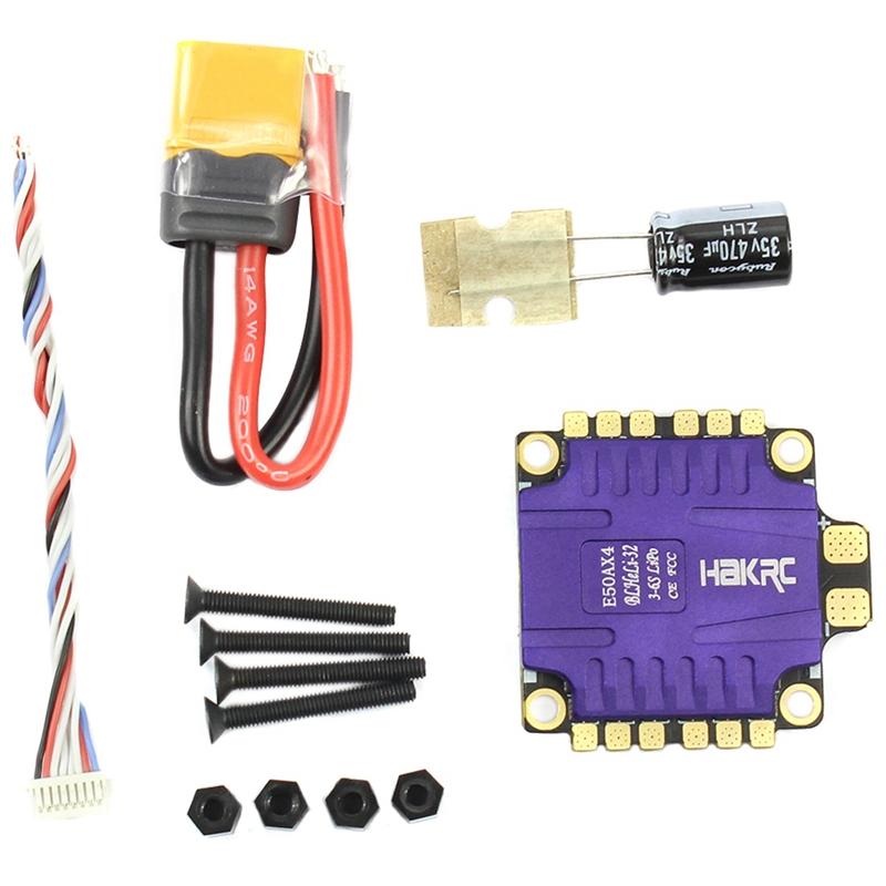 Hakrc 4X50A 4In1 50A 3-6S Blheli_32 5V 3A Bec Dscaliente1200  Mini Dimensione Esc Pour 9M8  fino al 60% di sconto