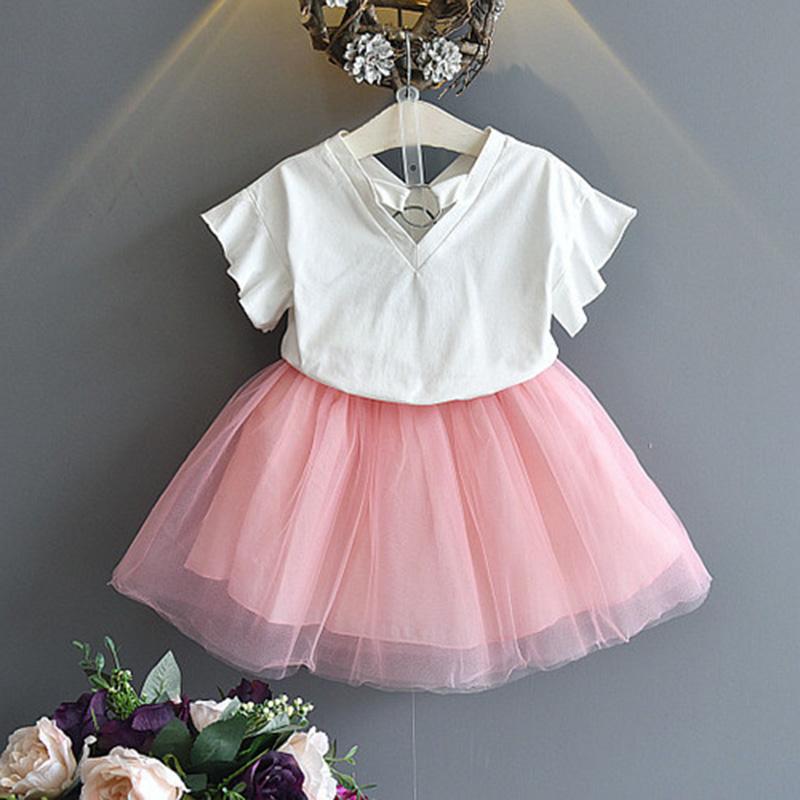 1X-Nette-Baby-Maedchen-Kleidung-Sets-Sommer-Kurzarm-Strass-Pailletten-Ananas-V3X5 Indexbild 4