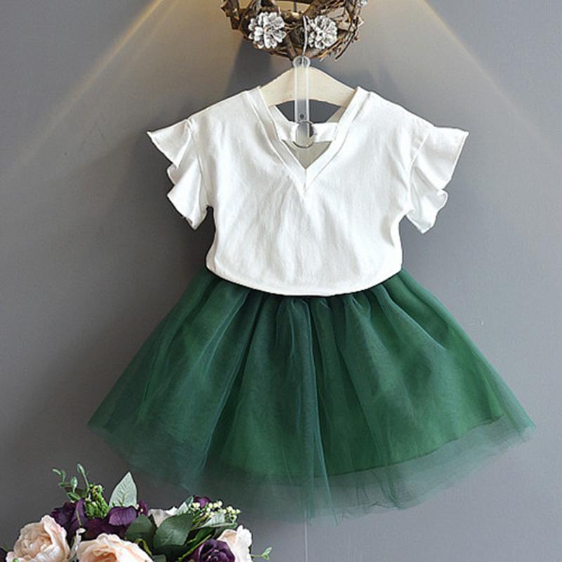 1X-Nette-Baby-Maedchen-Kleidung-Sets-Sommer-Kurzarm-Strass-Pailletten-Ananas-V3X5 Indexbild 14