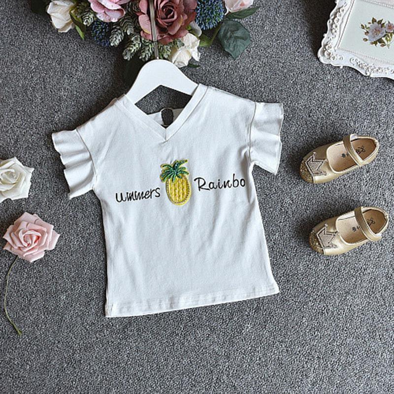 1X-Nette-Baby-Maedchen-Kleidung-Sets-Sommer-Kurzarm-Strass-Pailletten-Ananas-V3X5 Indexbild 15