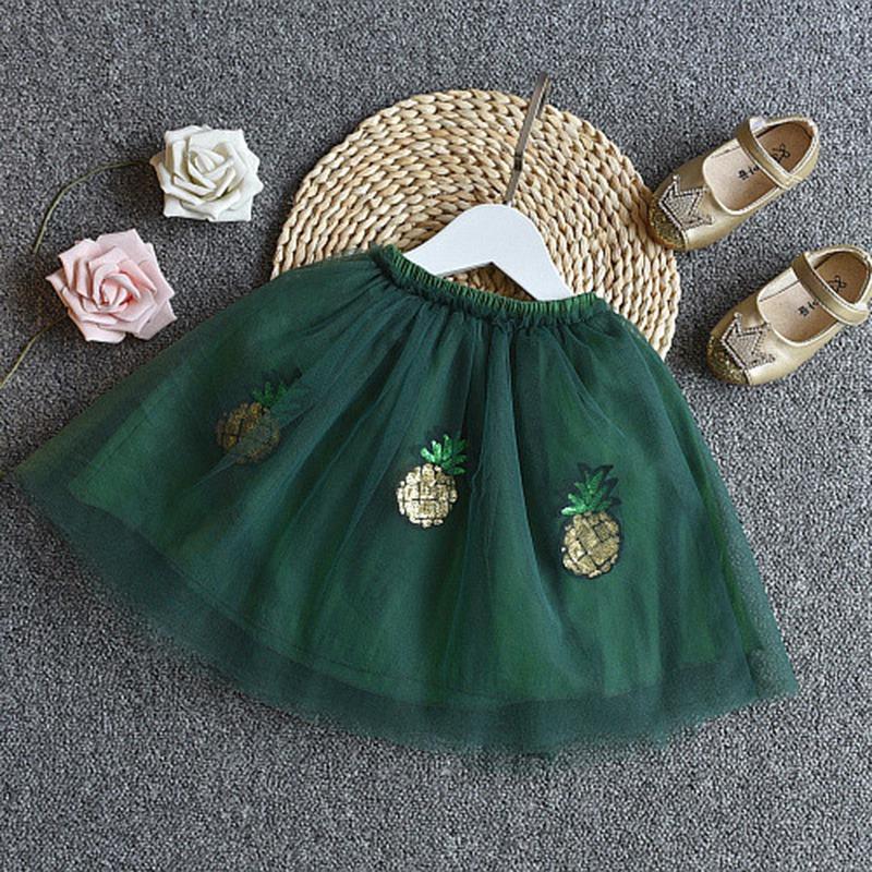1X-Nette-Baby-Maedchen-Kleidung-Sets-Sommer-Kurzarm-Strass-Pailletten-Ananas-V3X5 Indexbild 17
