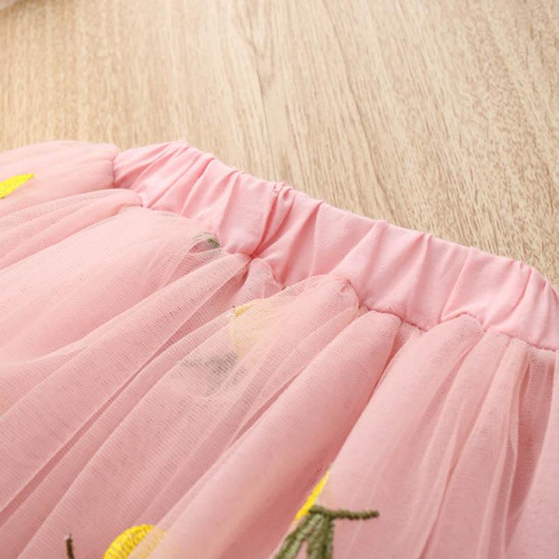 Nette-Baby-Maedchen-Kleidung-Sets-Sommer-Kurzarm-Ananas-Druck-T-Shirts-Und-S-W6T6 Indexbild 6