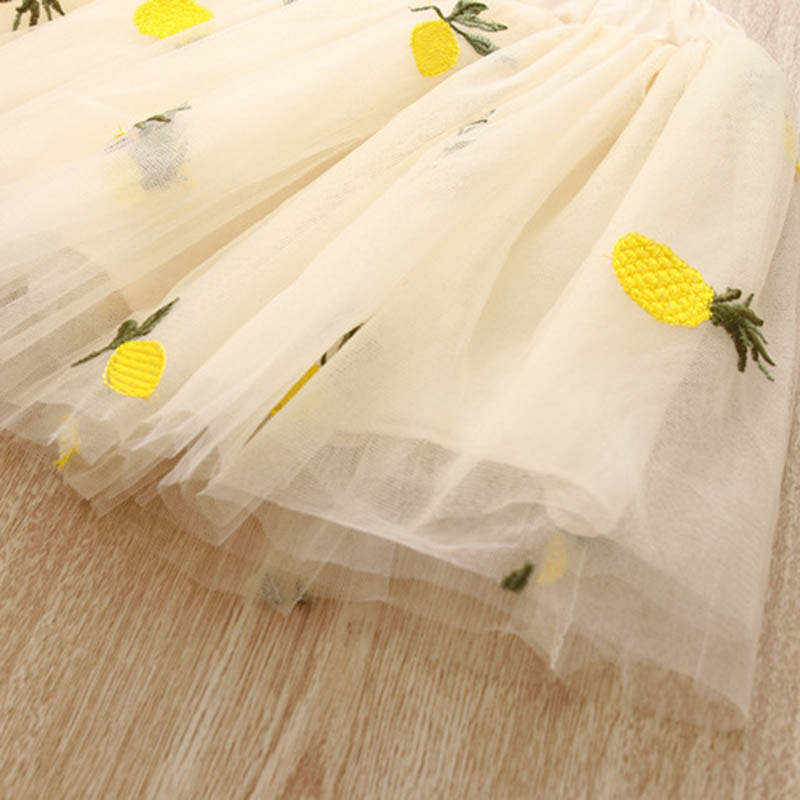 Nette-Baby-Maedchen-Kleidung-Sets-Sommer-Kurzarm-Ananas-Druck-T-Shirts-Und-S-W6T6 Indexbild 17