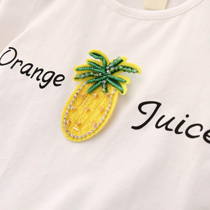 Nette-Baby-Maedchen-Kleidung-Sets-Sommer-Kurzarm-Ananas-Druck-T-Shirts-Und-S-W6T6 Indexbild 21