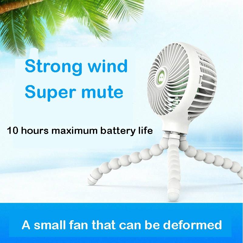 Windable-Ventilateur-A-Main-Avec-Batterie-Rechargeable-3-Vitesses-Mini-Vent-Z7W3 miniature 4