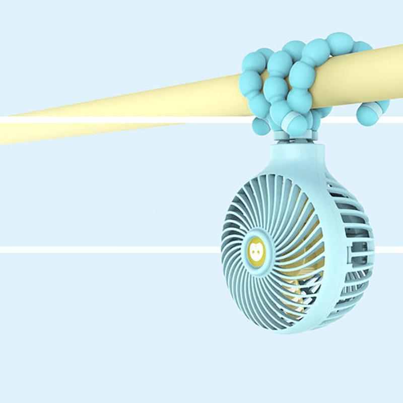 Windable-Ventilateur-A-Main-Avec-Batterie-Rechargeable-3-Vitesses-Mini-Vent-Z7W3 miniature 6