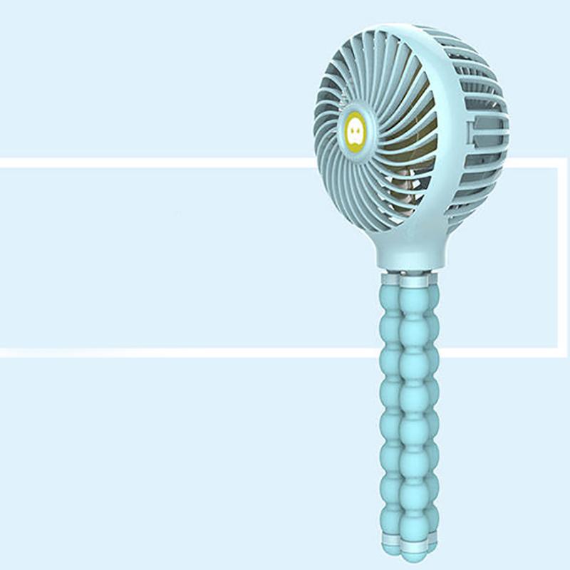 Windable-Ventilateur-A-Main-Avec-Batterie-Rechargeable-3-Vitesses-Mini-Vent-Z7W3 miniature 7