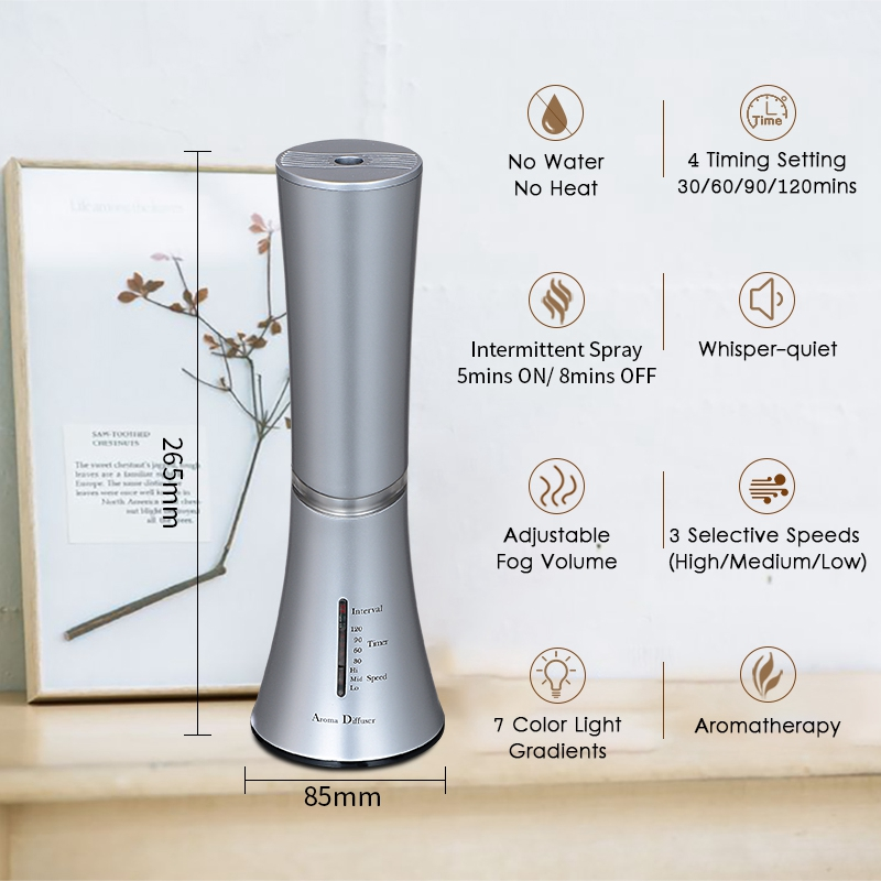 Waterless-Essential-Oil-Diffuser-Wood-And-Glass-Aroma-Diffusers-Aromatherap-M8Y7 thumbnail 5