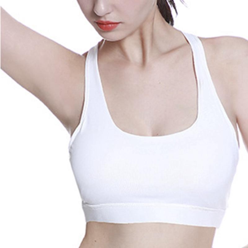 High-Stretch-Respirant-Soutien-Gorge-Haut-Fitness-Femmes-RembourrE-Soutien-A2V4 miniature 5