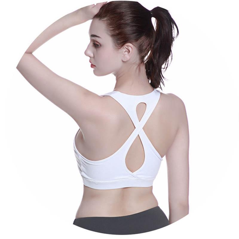 High-Stretch-Respirant-Soutien-Gorge-Haut-Fitness-Femmes-RembourrE-Soutien-A2V4 miniature 6