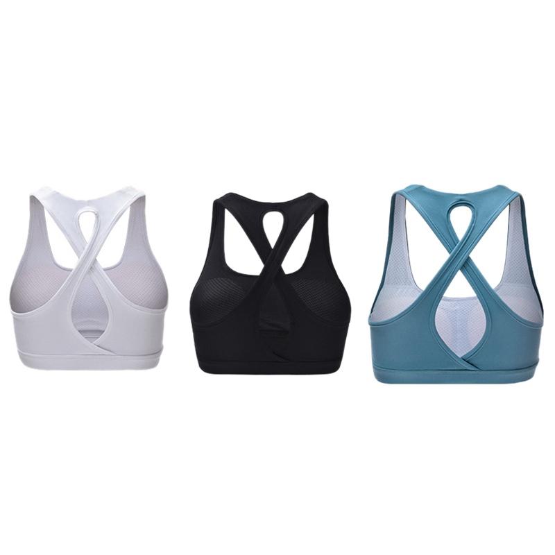 High-Stretch-Respirant-Soutien-Gorge-Haut-Fitness-Femmes-RembourrE-Soutien-A2V4 miniature 7
