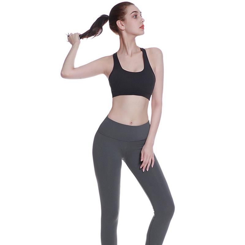 High-Stretch-Respirant-Soutien-Gorge-Haut-Fitness-Femmes-RembourrE-Soutien-A2V4 miniature 11