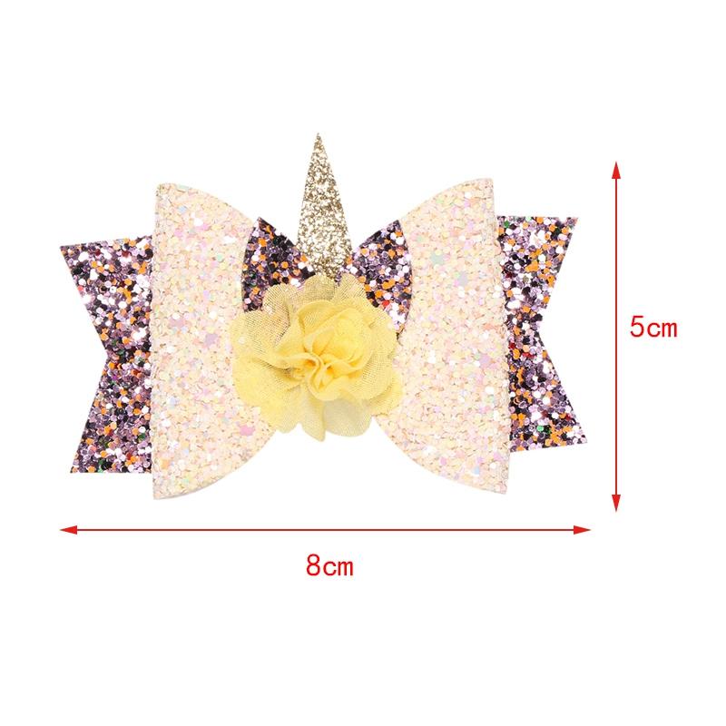 2X-Bowknot-Princesse-Pinces-A-Cheveux-Glitter-Cheveux-Arc-En-Ciel-Fleurs-Ar-D3J2 miniature 3