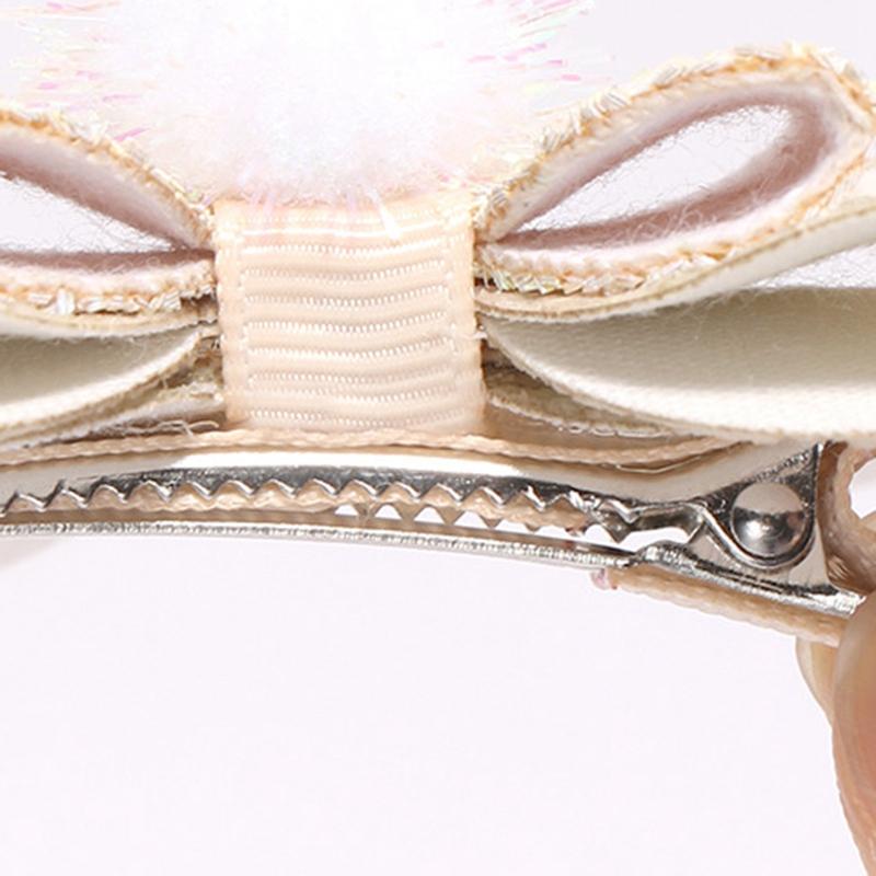 2X-Bowknot-Princesse-Pinces-A-Cheveux-Glitter-Cheveux-Arc-En-Ciel-Fleurs-Ar-D3J2 miniature 4