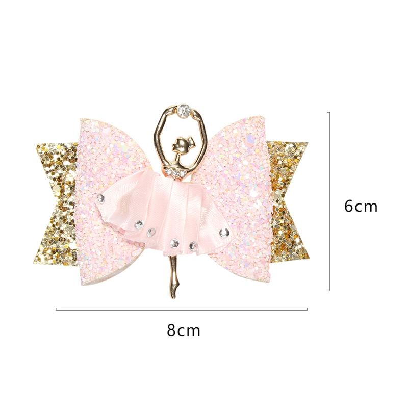 1X-Strass-Ballet-Fille-En-Epingle-A-Cheveux-Arcs-Avec-Des-Clips-Flash-Paill-W6W7 miniature 13