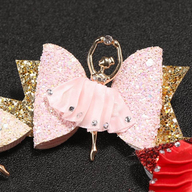 1X-Strass-Ballet-Fille-En-Epingle-A-Cheveux-Arcs-Avec-Des-Clips-Flash-Paill-W6W7 miniature 43