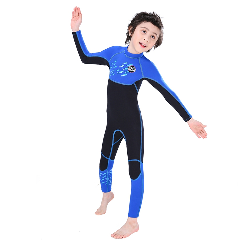Slinx-2-5mm-One-Piece-Full-Body-Long-Sleeve-Swimsuit-Kids-Wetsuit-For-Boys-A2T8 thumbnail 3