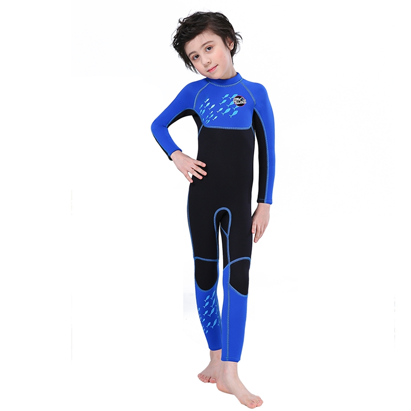 Slinx-2-5mm-One-Piece-Full-Body-Long-Sleeve-Swimsuit-Kids-Wetsuit-For-Boys-A2T8 thumbnail 4