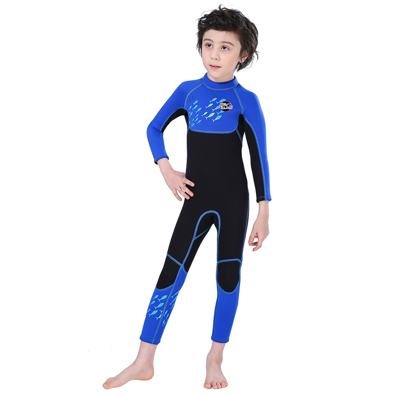 Slinx-2-5mm-One-Piece-Full-Body-Long-Sleeve-Swimsuit-Kids-Wetsuit-For-Boys-A2T8 thumbnail 5