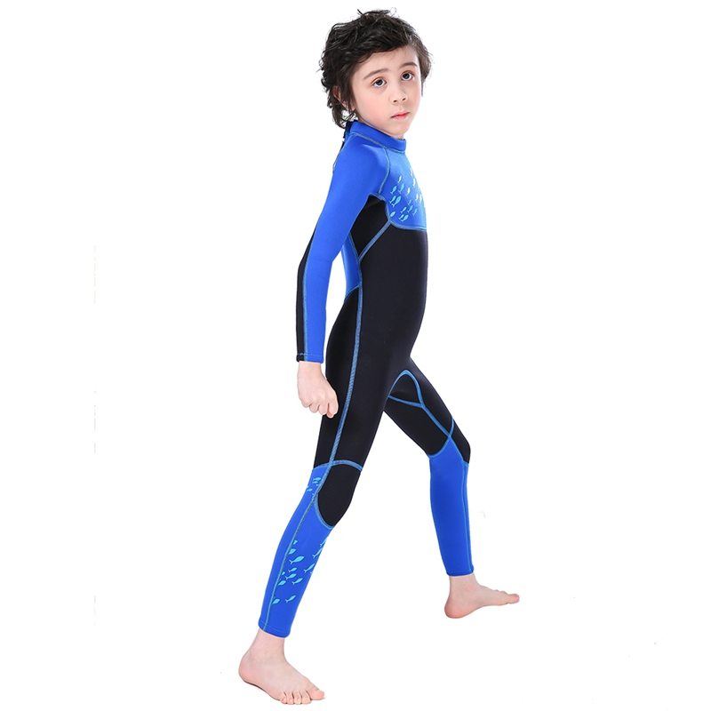 Slinx-2-5mm-One-Piece-Full-Body-Long-Sleeve-Swimsuit-Kids-Wetsuit-For-Boys-A2T8 thumbnail 6