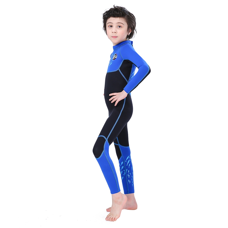 Slinx-2-5mm-One-Piece-Full-Body-Long-Sleeve-Swimsuit-Kids-Wetsuit-For-Boys-A2T8 thumbnail 7