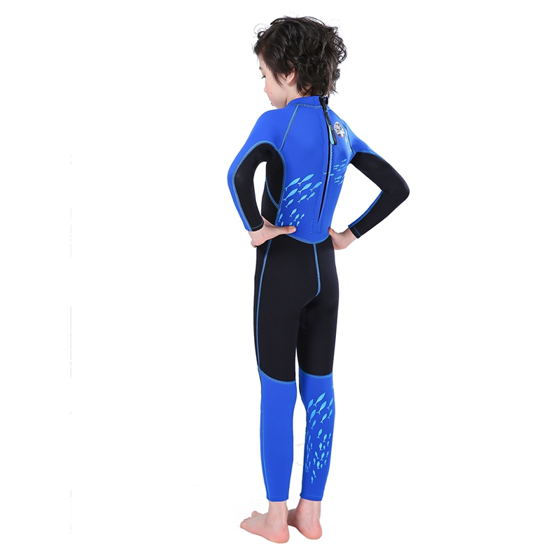 Slinx-2-5mm-One-Piece-Full-Body-Long-Sleeve-Swimsuit-Kids-Wetsuit-For-Boys-A2T8 thumbnail 8
