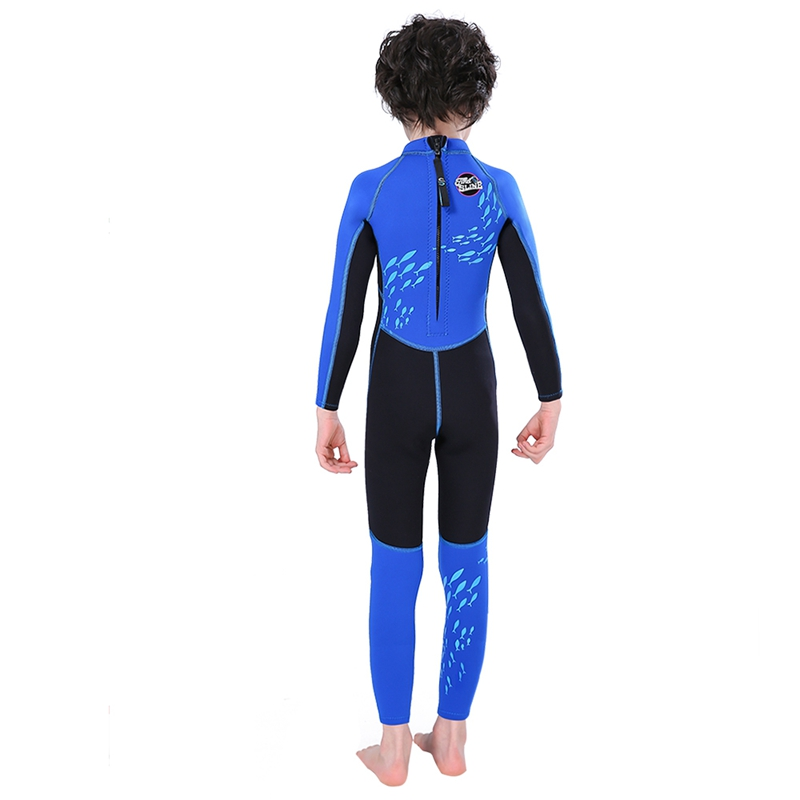 Slinx-2-5mm-One-Piece-Full-Body-Long-Sleeve-Swimsuit-Kids-Wetsuit-For-Boys-A2T8 thumbnail 9