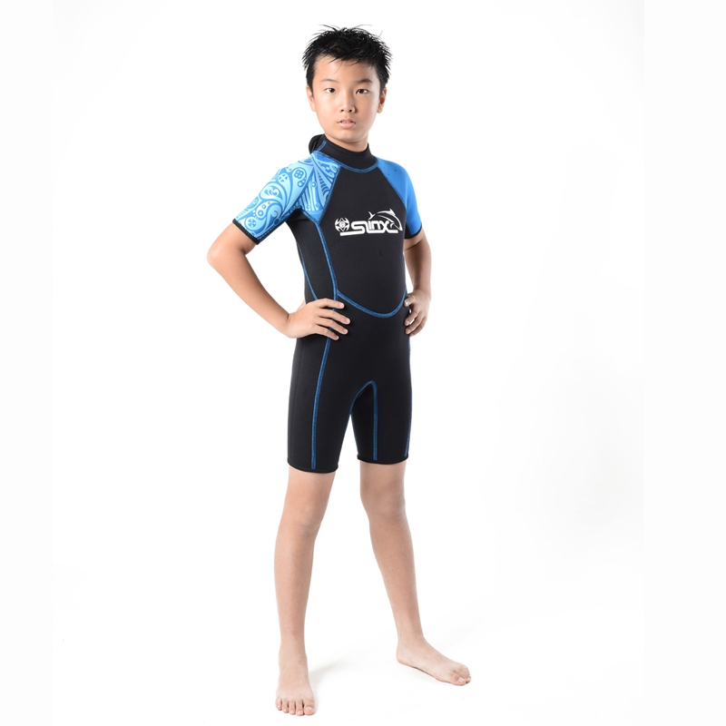 Slinx-Kids-Wetsuit-For-Boys-One-Piece-Full-Body-Long-Sleeve-Swimsuit-Uv-Pro-Z6D5 thumbnail 4