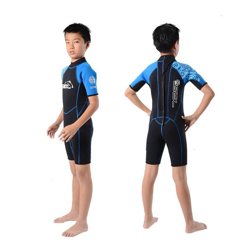 Slinx-Kids-Wetsuit-For-Boys-One-Piece-Full-Body-Long-Sleeve-Swimsuit-Uv-Pro-Z6D5 thumbnail 5