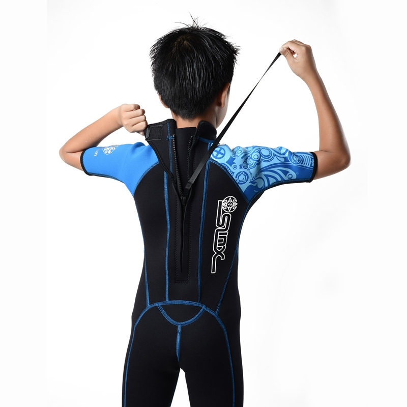 Slinx-Kids-Wetsuit-For-Boys-One-Piece-Full-Body-Long-Sleeve-Swimsuit-Uv-Pro-Z6D5 thumbnail 6