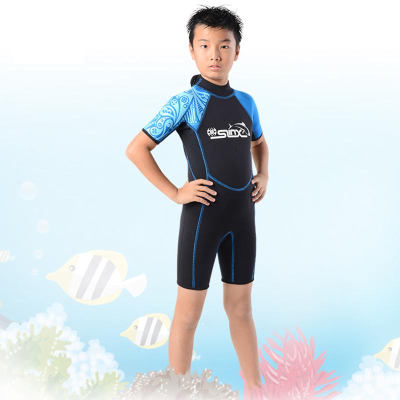 Slinx-Kids-Wetsuit-For-Boys-One-Piece-Full-Body-Long-Sleeve-Swimsuit-Uv-Pro-Z6D5 thumbnail 7
