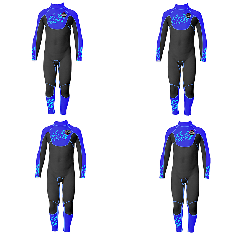 Slinx-2-5mm-One-Piece-Full-Body-Long-Sleeve-Swimsuit-Kids-Wetsuit-For-Boys-A2T8