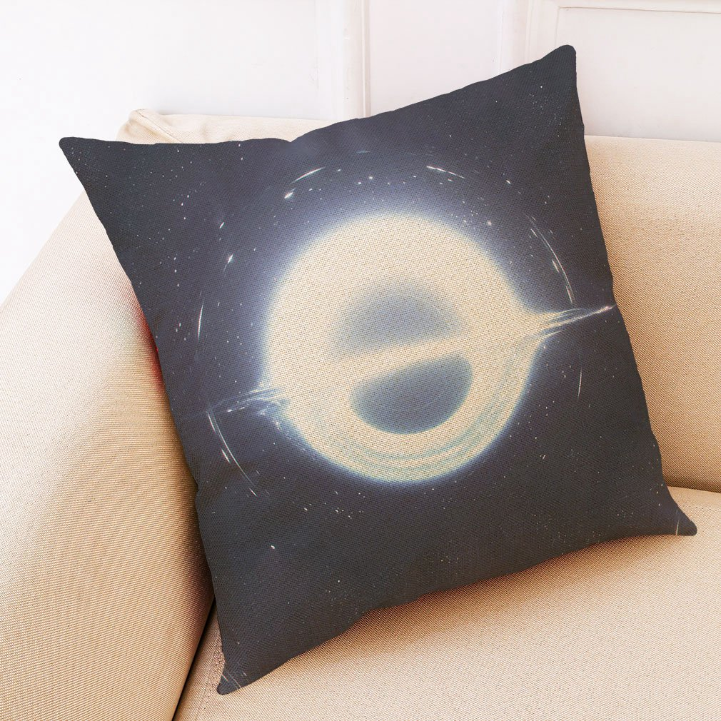 Black-Holes-Pillow-Cover-Astronomy-Gifts-Sofa-Mysterious-Universe-Style-Pil-E6R9 thumbnail 3