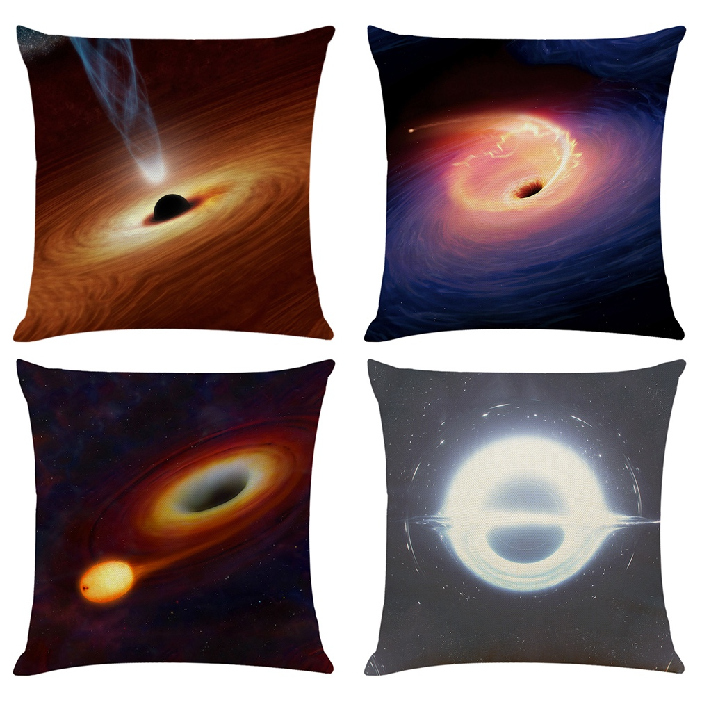 Black-Holes-Pillow-Cover-Astronomy-Gifts-Sofa-Mysterious-Universe-Style-Pil-E6R9 thumbnail 4