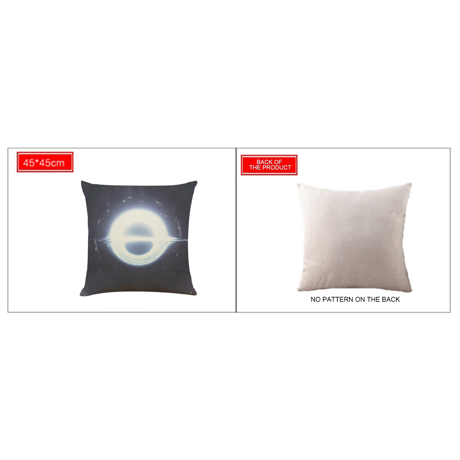 Black-Holes-Pillow-Cover-Astronomy-Gifts-Sofa-Mysterious-Universe-Style-Pil-E6R9 thumbnail 7