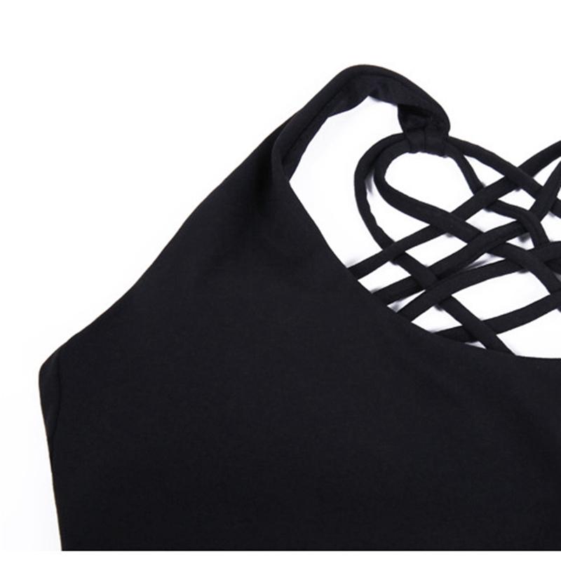 T-Shirt-De-Sport-Pour-Femmes-Yoga-Top-Soutien-Gorge-De-Sport-Pour-La-Course-T6U1 miniature 4