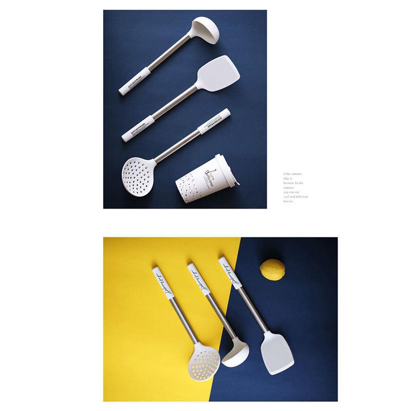 Indexbild 4 - Kuechen-Utensilien-Set-Edelstahl-Metall-Griff-Kochen-Werkzeuge-Koch-Geschirr-W9Z2