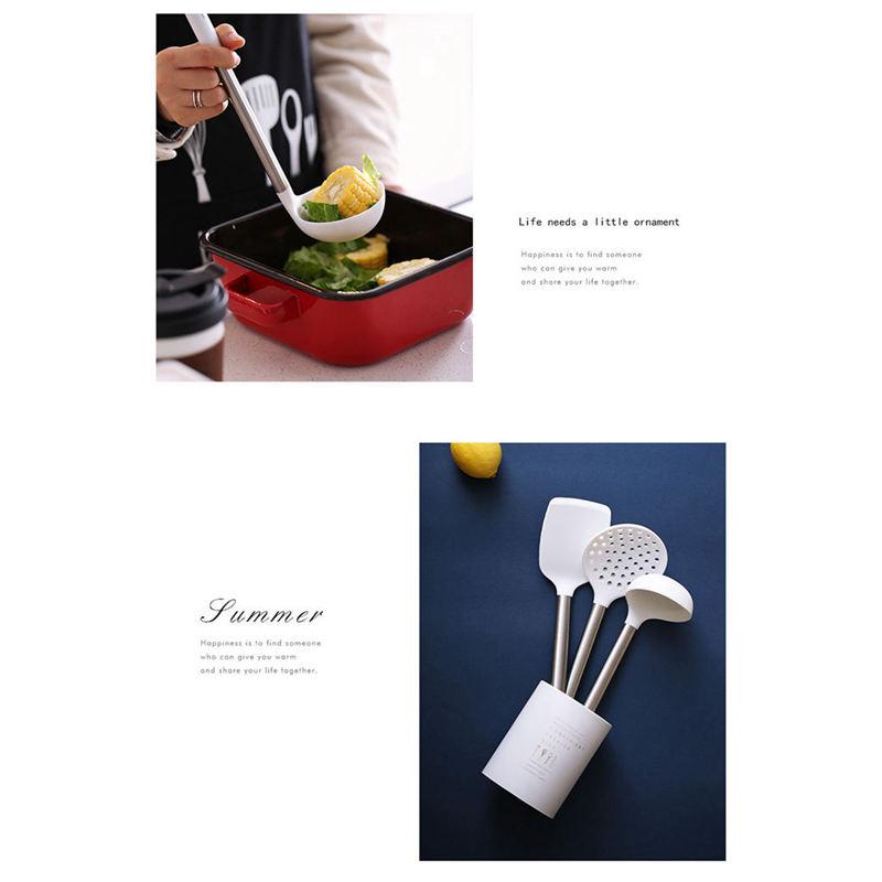 Indexbild 6 - Kuechen-Utensilien-Set-Edelstahl-Metall-Griff-Kochen-Werkzeuge-Koch-Geschirr-W9Z2