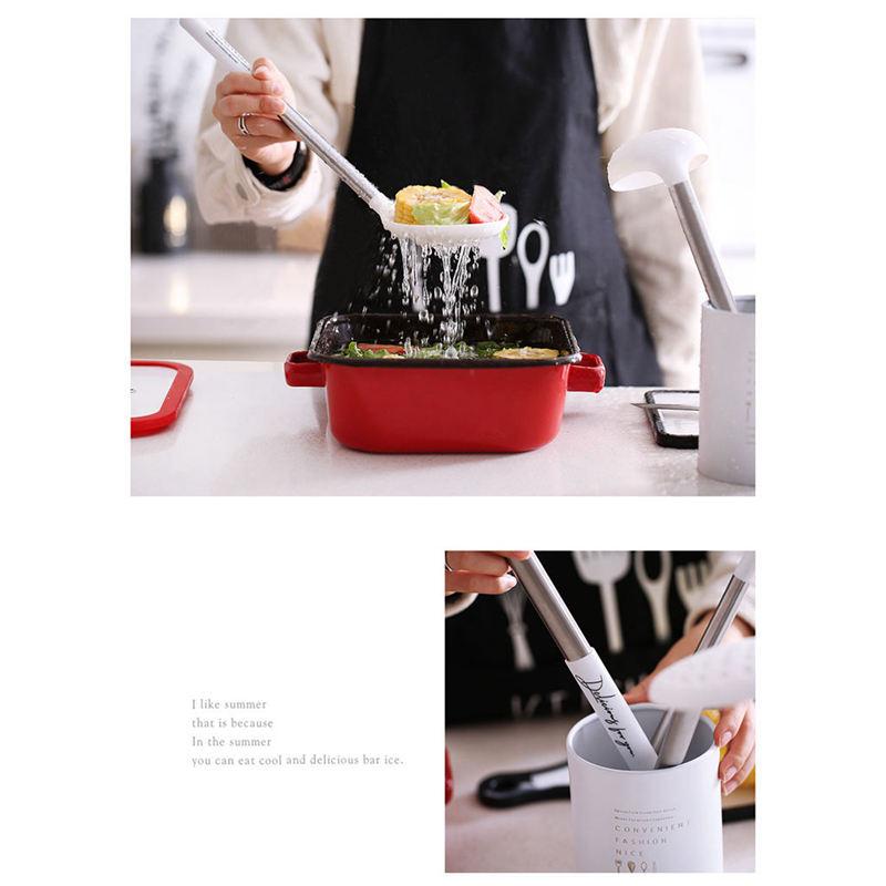 Indexbild 8 - Kuechen-Utensilien-Set-Edelstahl-Metall-Griff-Kochen-Werkzeuge-Koch-Geschirr-W9Z2