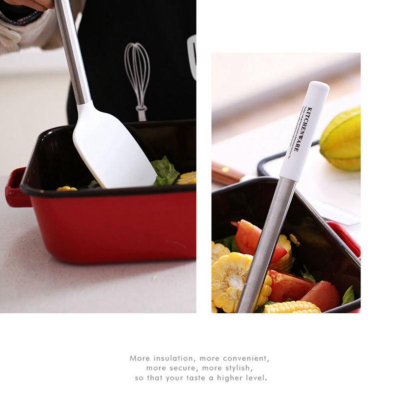 Indexbild 9 - Kuechen-Utensilien-Set-Edelstahl-Metall-Griff-Kochen-Werkzeuge-Koch-Geschirr-M3D2